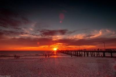 Sunset over Henley