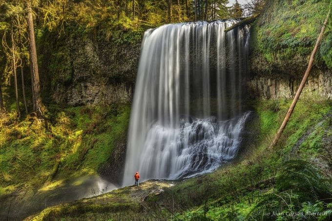 On the Edge by JoanCarsonMartelli - People And Waterfalls Photo Contest
