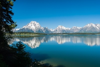 Teton Mountains over Jackson Lake