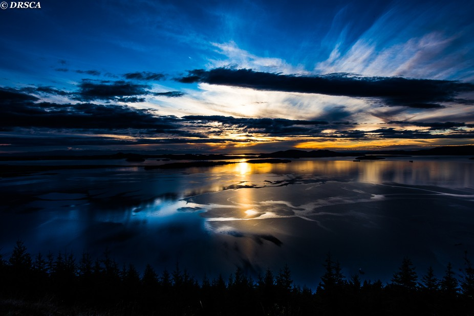 sunset, island, island county