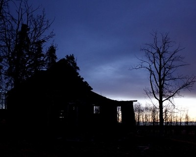 Abandoned Homestead at Dawn