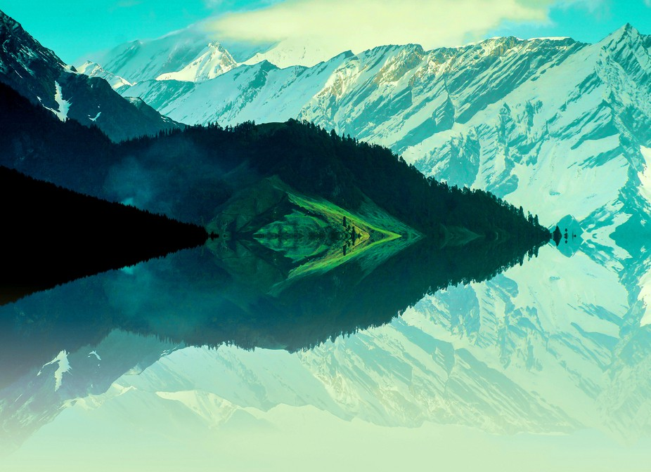 This is a photoshop image friends. The base shot is captured at Manali, India a few years ago. Ho...