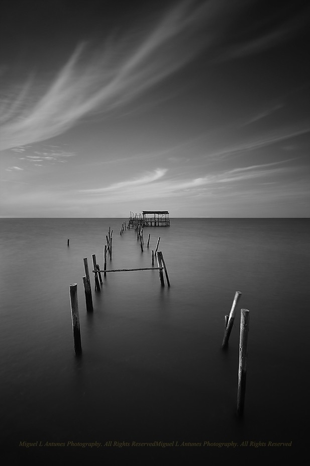 On the horizon by miguelantunes_8885 - The Water In Black And White Photo Contest