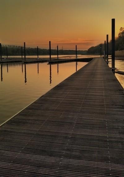 Pastel Sunset Docks