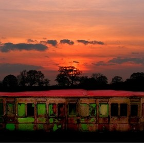 Deep in Norfolk is an abandoned railway carriage