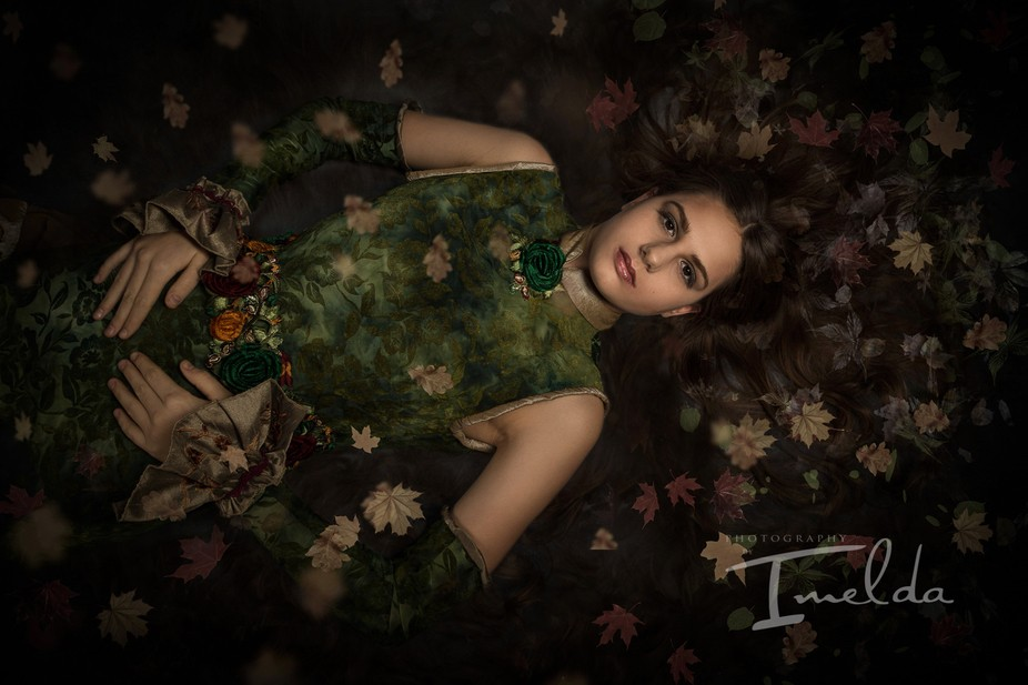 Elements Evening Gown Collection. Model: Cerys Wrigley-Moss, Dress deigned and made by Carol Wake...