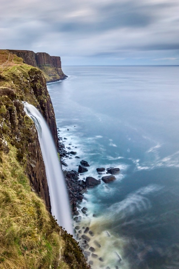 Kilt Rock Waterfall by mfagadar - Spectacular Cliffs Photo Contest