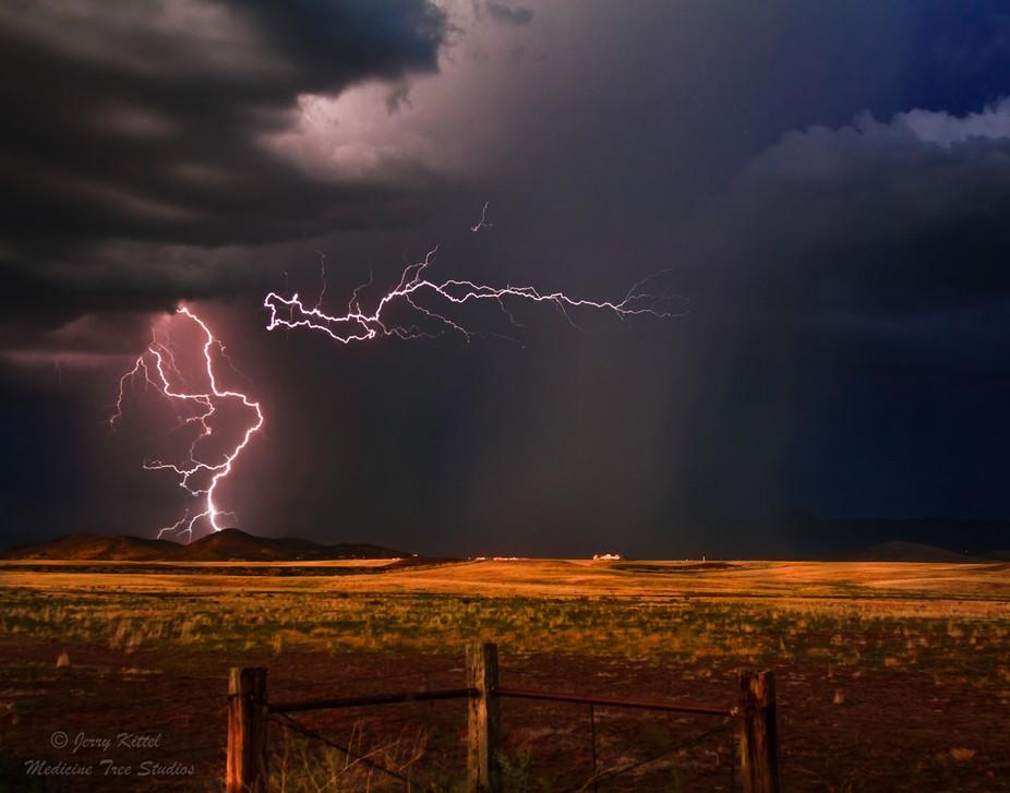 Evening monsoon lightning/rain storm