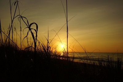 Sunrise off North Carolina coast