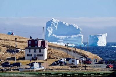 The huge iceberg in ferryland, Newfoundland. April 16, 2017.