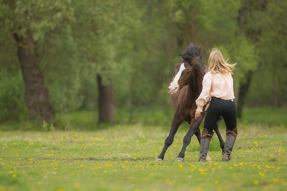photo taken during a workshop, together with a horse trainer
