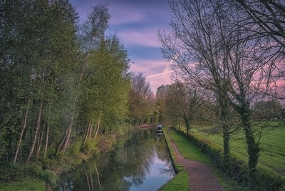 Birmingham and Fazeley Canal, Staffordshire, UK