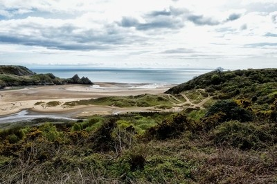 3 Cliffs bay on the Gower in Wales