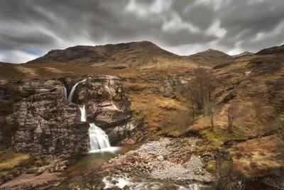 Waterfall at Glencoe Pass Scotland 2017