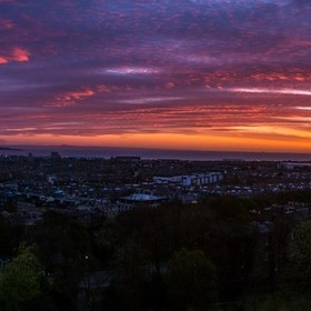 Here is a shot I got in Edinburgh, Scotland earlier this week. It was an amazing sunrise and I was lucky enough to experience it.
