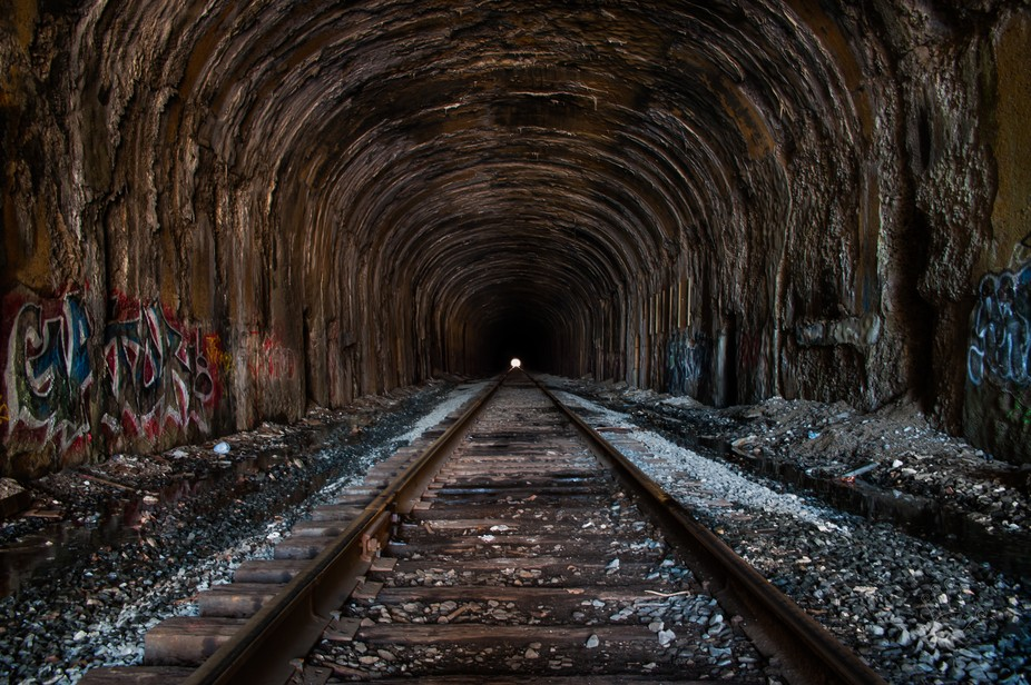Old rail tunnel in CT