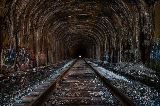 Mile Long Tunnel by 2ndhalfphotography - Empty Railways Photo Contest