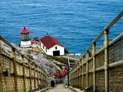 Perspective View of Pt Reyes Lighthouse, Marin County, CA.