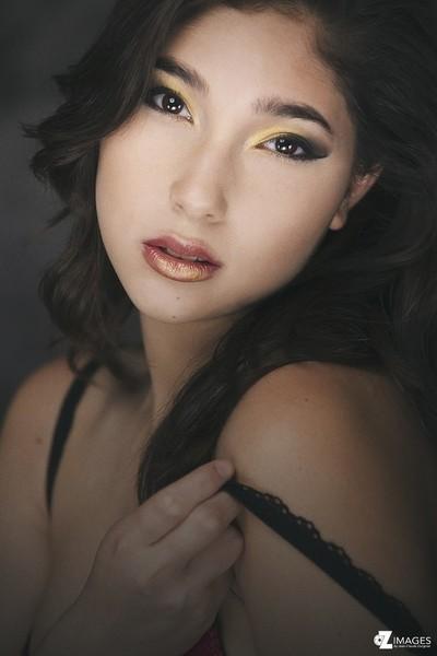 Beauty studio portrait with Elise