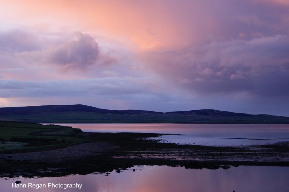 Sunrise over Stromness, Orkneys, Scotland.