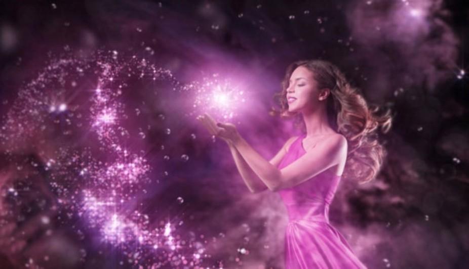 A Women in a Collerful Magic