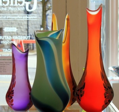 Hand Crafted Glass Vases