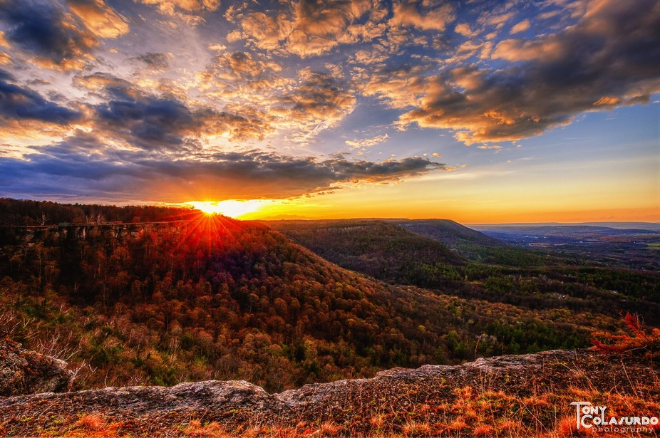 Sunset at John Boyd Thacher State Park in Voorheesville, NY.