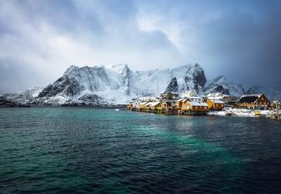 Traditional fishing settlements of Lofoten islands.