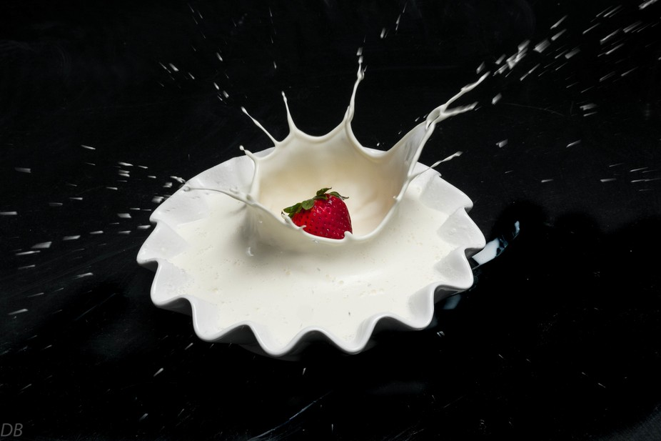 Trying different things is part of growing as a photographer. My first attempt at fruit splash.