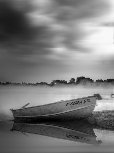 Row Boat on Baron Lake Long Exposure