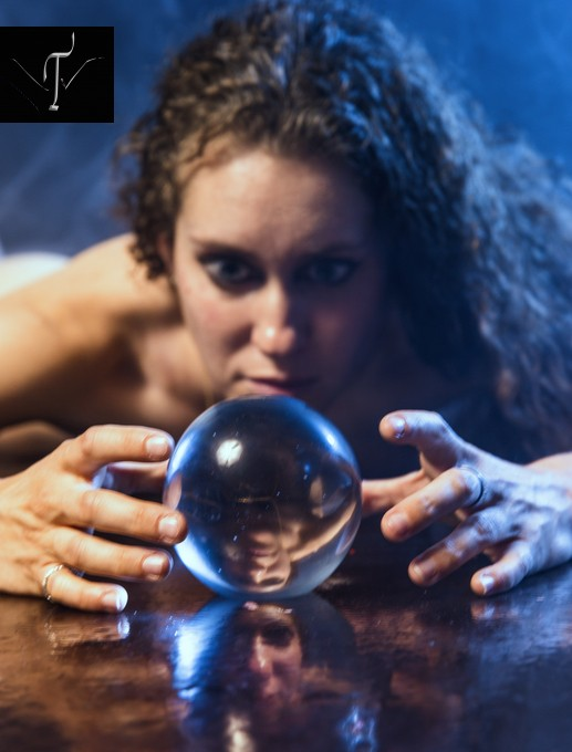 This was a really cool shot because of the perspective and the reflection of the crystal ball.