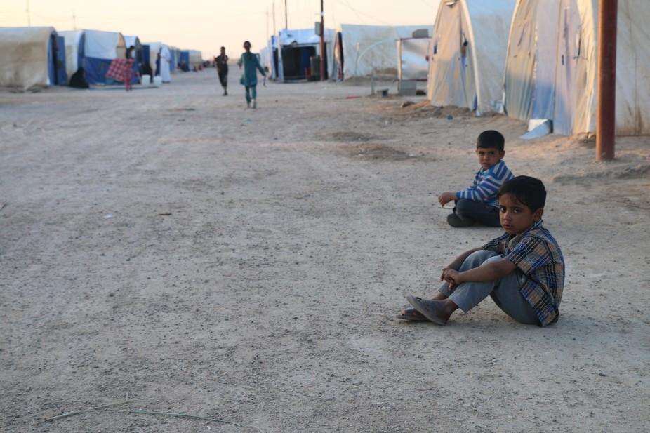 الصورة تتكلم، هي لمخيم الخالدية في محافظة الأنبار با�...