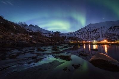Blue hour Auroras