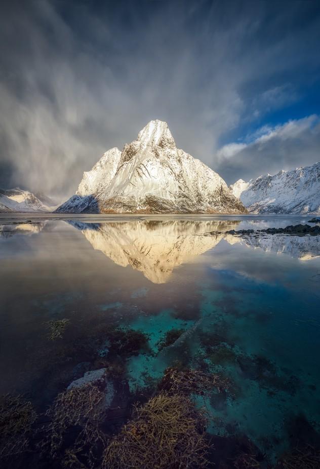 Glowing Olstinden  by hpd-fotografy - Snowcap Photo Contest