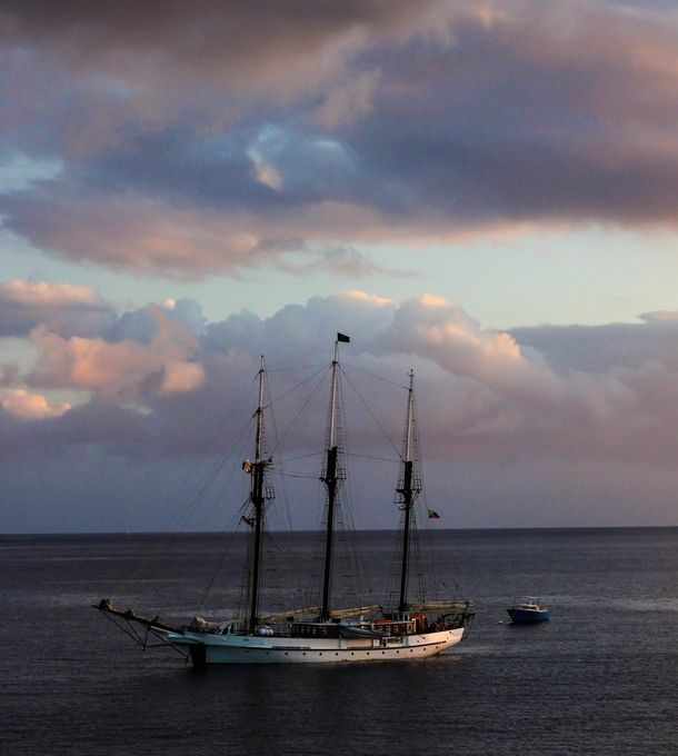 This magnificent vessel was sitting offshore on the island of Dominica
