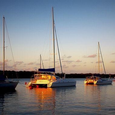 Golden Sunset on Snapper Creek, Tin Can Bay, Australia