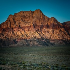 """Moon Over Rainbow Mountain"" - Rainbow Mountains Conservation Area is the western border of the Red Rock Canyon National Conservation P..."