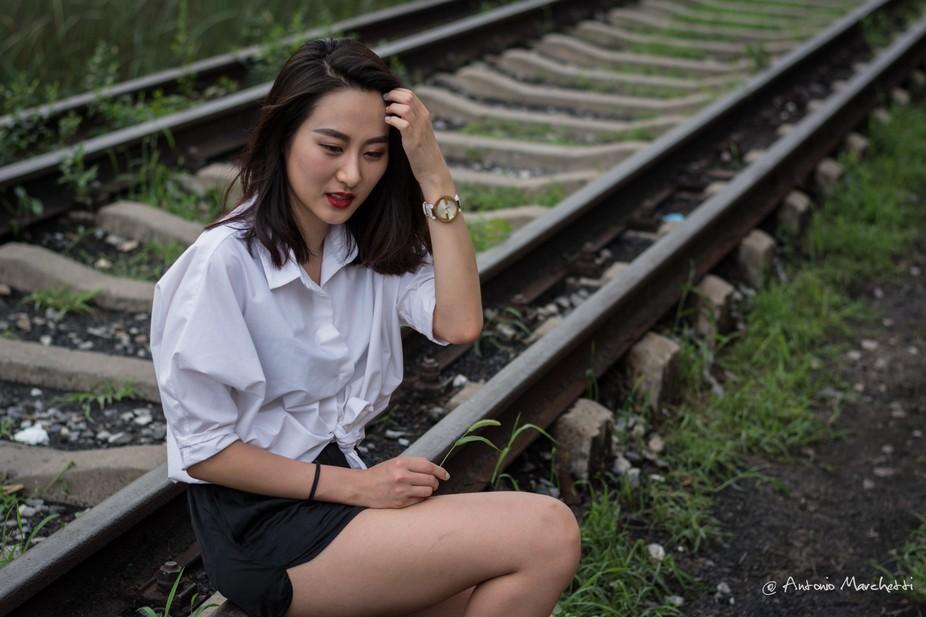On the railway