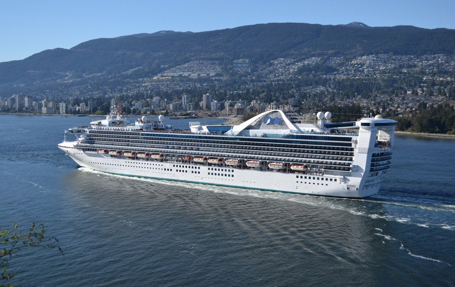 The Star Princess heading out of Vancouver, BC and making her way to Hilo, Hawaii. Taken at Prosp...