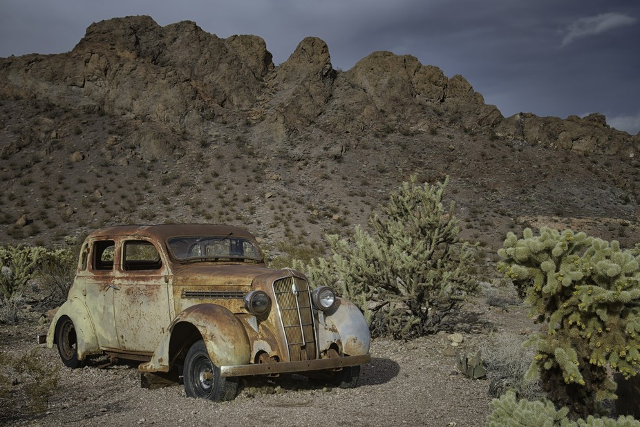 An abandoned car found in Nelson, NV