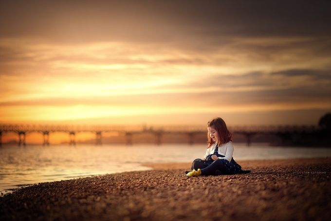 Golden Hour by contamestorias - Children In Nature Photo Contest