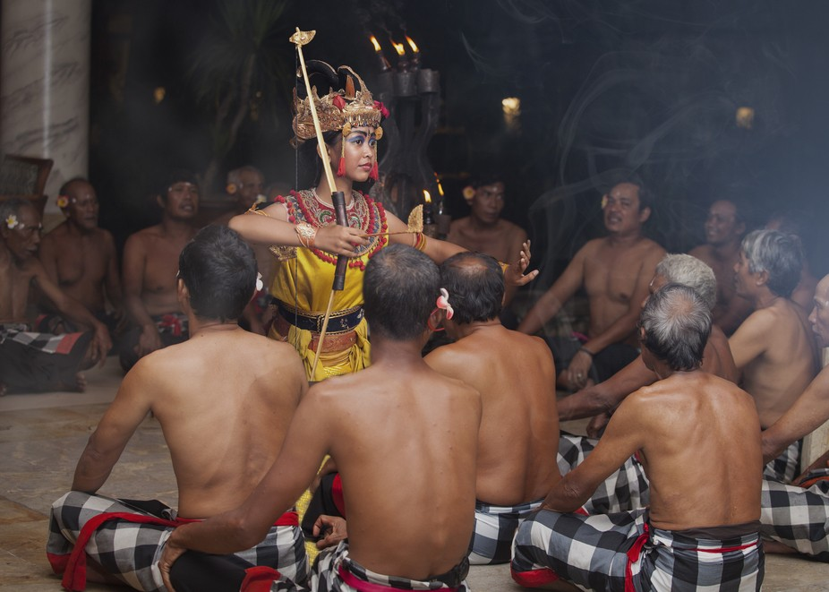 Young Balinese Kecak Dancer