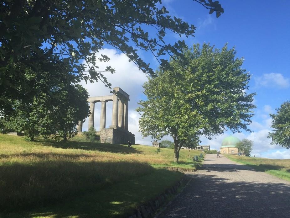 A sunny day at Calton Hill in Edinburgh