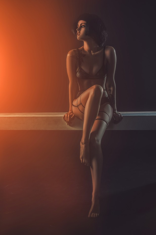 Anastasiya by klepikovadaria - Orange Is The Color Photo Contest