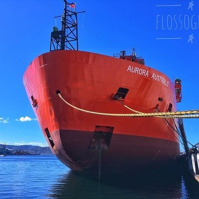 Aurora Australis ???? #Aurora australis #water #consitutiondock #bluesky #orangeboat #discovertasmania #tasmaniagram #hobartandbeyond #instatassie #tassiepics #tassie #hobart #southerntasmania  #tassiestyle #Hey_ihadtosnapthat #australiagram #focusaustral