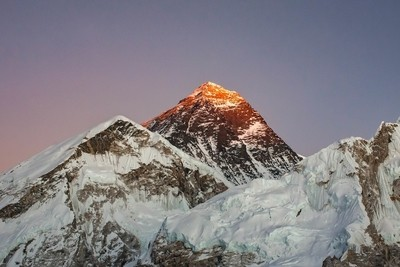 Alpenglow on Everest