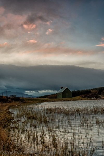 Fishing hut, Highland Perthshire, Scotland.