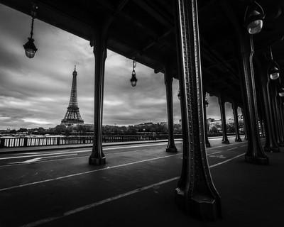 Eiffel Tower from Bir-Hakeim bridge