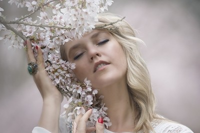 Cherry Blossoms Girl
