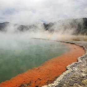 Sulphur pools, beautiful, dangerous and a little smelly